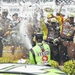 Busch grabs first win of season