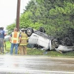 Rollover on 38 injures two
