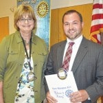 Adkins inducted into Rotary Club