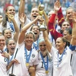 U.S. brings World Cup trophy home