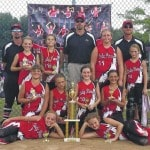 Lady Pioneers '05 collect tourney hardware