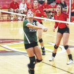London wins, Plains falls in volleyball action