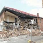 Partially-collapsed building in West Jefferson to be demolished.