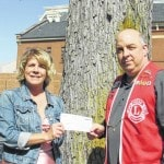 Press donates to Lions Club