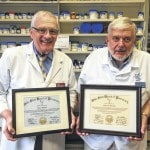 Pharmacists honored for 50 years service