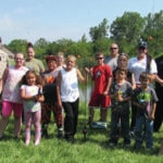 Officers, kids join for day of fishing
