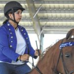 Riders compete during Musical Freestyle