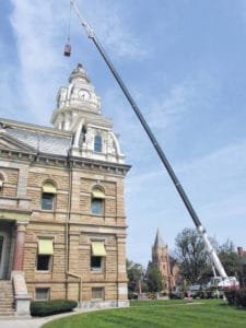 Clock tower dome getting facelift