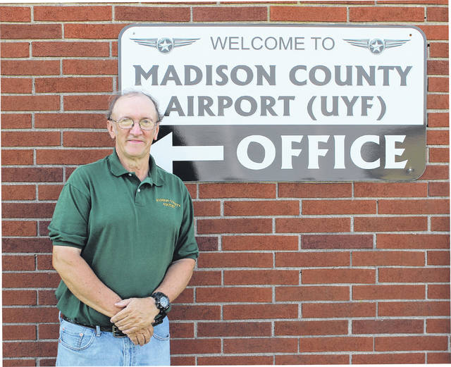 John Duhl, Madison County Airport manager, stands outside the main office building. The airport, located at 1281 U.S. Route 40, will hold its free 50th anniversary open house Saturday, Sept. 30.