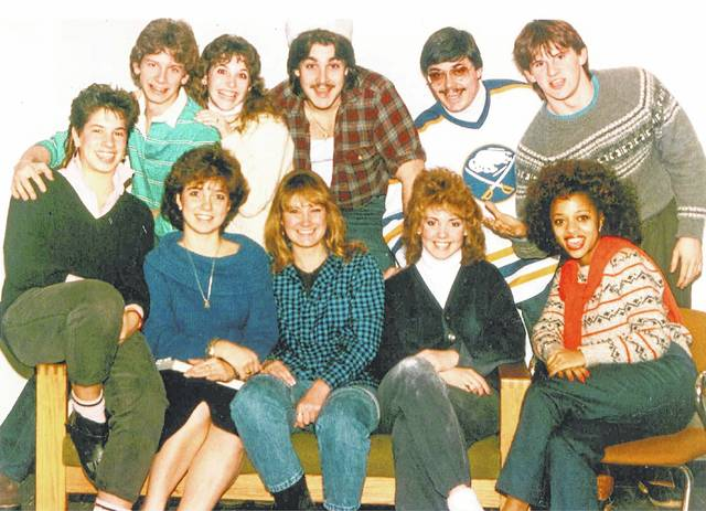 The Buffalo State College dormitory staff from 1985-1986 featured Stephen Hoffman (second row, far right) who died in the World Trade Center on Sept. 11, 2001, and columnist Jeff Gates (back row, second from right).