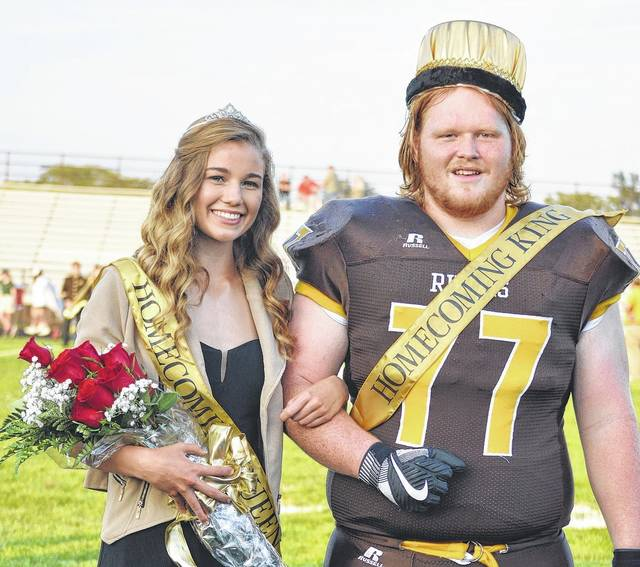 West Jefferson High School Homecoming Queen Hope Lewis and Homecoming King Gunnar Dorn were crowned before the Roughriders' football game against Springfield Central Catholic Friday.