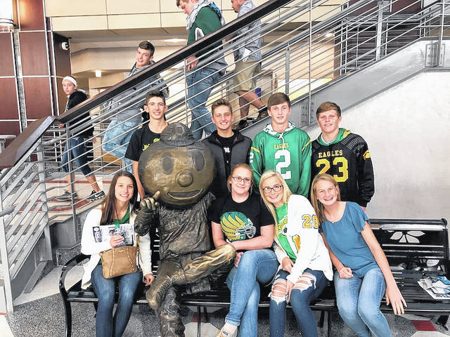 Student-athletes from Madison-Plains High School who attended the OHSAA Leadership Conference Oct. 3 at Ohio State University were: Addison Tesi, Braden Mast, Cidny Long, Sam Powell, Kosta Xenikis, Gabe Garrison, Jarrett Vallery and Isaac Puckett.
