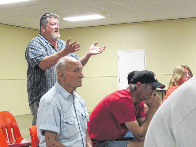 County Commissioner and Ag Society member David Hunter spoke Wednesday night at the Madison County Fair Board meeting.