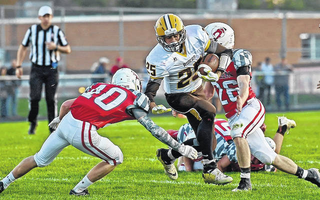 West Jefferson's Wyatt Dillion is one of the many weapons the Roughriders will throw at Reading Friday in a D-V state playoff game at Xenia High School.