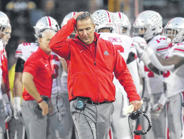 Ohio State head coach Urban Meyer said after the Iowa loss, the Buckeyes are refocusing on beating Michigan State at home Saturday.