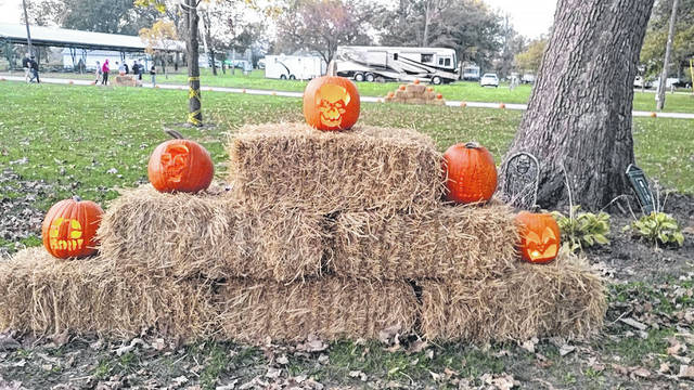 Over 150 jack o lanterns marked the paths in Pastime Park.