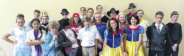 "Students participating in ""The Snow White Variety Show"" and ""A Not So Terrible Parable"" in no certain order are, Trevor Brumfield, Ariana Castle, Joshua Castle, Amanda Comstock, Tim Comstock, Walter Cuddington, Carson Dillinger, Max Dillinger, Elijah Groff, Joshua Groff, Luke Groff, Emma Hagerdorn, Nick Kauffman, Benton Ludens, Megan Moore, Makenna Renevier, Asher Schirtzinger, Drew Schirtzinger, Colby Scott, Joy Scott and Abby Walter."