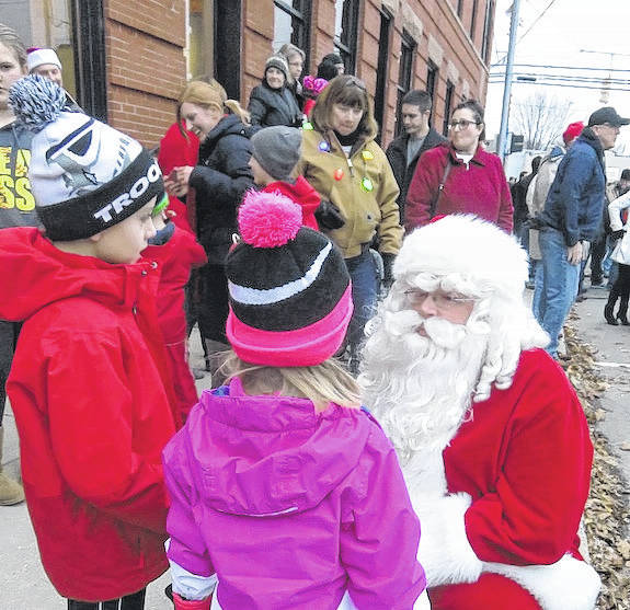Santa makes a visit to the tree lighting before heading to Yoder's True Value Hardware for pictures. Take the wagons and go see him after the tree lighting.