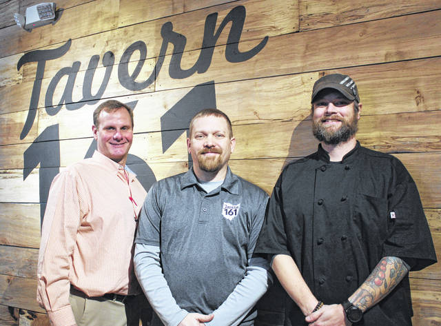 From left are: Robert Williams, general manager of Tavern 161; Jason Shumway, owner; and Travis Hyde, executive chef of Tavern 161 and Sweet T's Southern Style Kitchen.