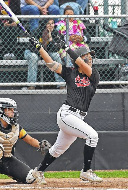 Jonathan Alder's Kayla Fredendall delivered a game-winning walk off home run on this swing during a D-II regional final victory.