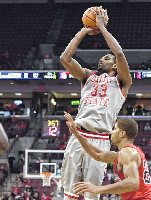 Ohio State University's Keita Bates-Diop (33) is one of the main reasons the Buckeyes sit tied atop the Big Ten standings.