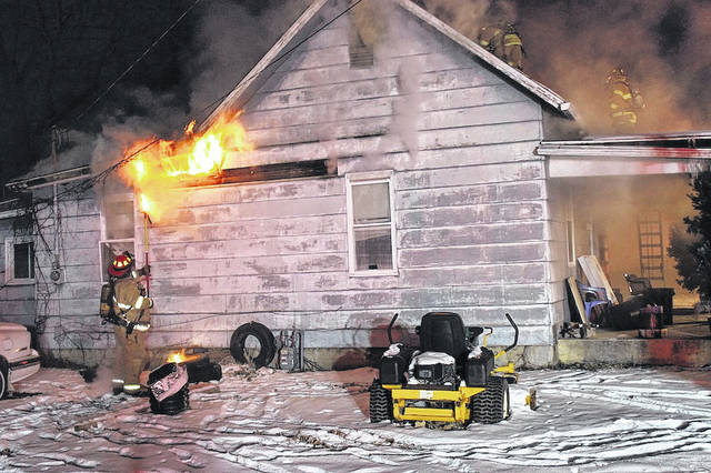 A London house at 163 Western Ave. caught fire Tuesday evening. Firefighters determined the cause of the fire was due to the use of a space heater in the kitchen of the house. Owner Butch Scott, had been using the heater to thaw frozen pipes.