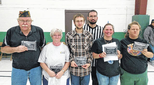 Madison County Special Olympics recently announced its annual recognition awards. Among those voted to receive top honors were from left: Wesley Pierce representing American Legion Post 417 of Mount Sterling (Organization of the Year), Judy Coy (Volunteer of the Year), Michael Elfrink (Athlete of the Year), Jason Shingler (Coach of the Year), Danielle Salters (Fan of the Year) and Marlyn Zeeck (Savannah's Heart of a Champion Award).