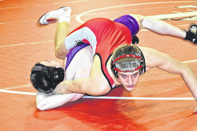 London's Darian Huff is one of four London wrestlers to qualify for the Division II district tournament.