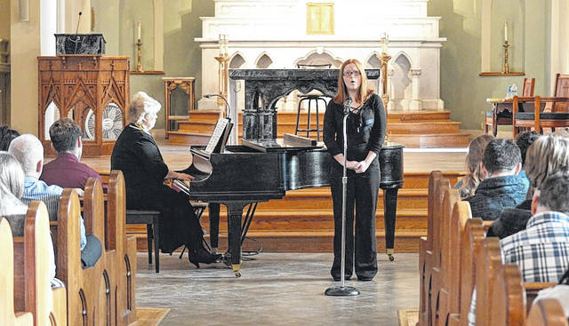 London High School sophomore Kirsten Mercer sang a solo as part of Madison County Arts Council's annual Young Artist Showcase, held Sunday, Jan. 28 at St. Patrick Church. She was accompanied on the piano by her voice teacher, Valerie Tanner.