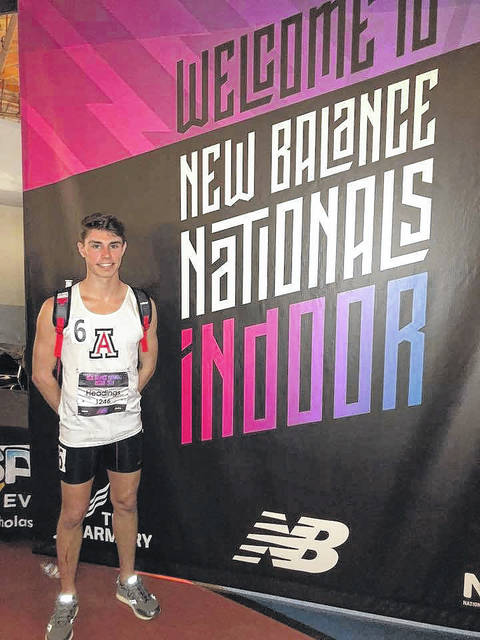 Jonathan Alder senior Jase Headings finished seventh in the boys 800-meter run in the Emering Elite Division at the 2018 New Balance Nationals Indoor meet held March 9-11 in New York City. Headings finished in a time of 1:56.83. He was one of just two runners from the state of Ohio in the race. The event was won by a runner from Utah who completed the race in 1:54.42.