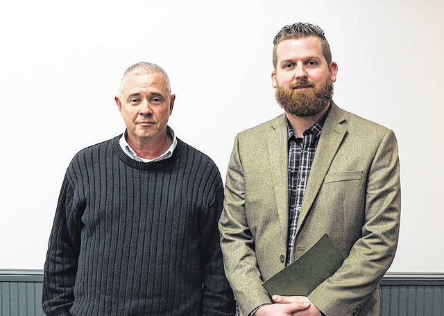 The appointees for London City Council Ward 1 and Ward 3 were voted on and endorsed by members of the Madison County Republican Central Committee Tuesday evening. From left are: Andrew Hitt, appointee to Ward 1, and Anthony Smith, appointee to Ward 3.