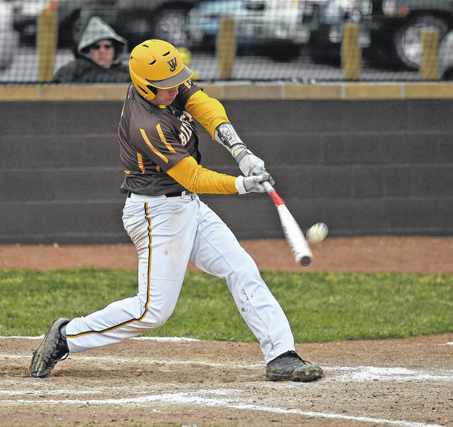 West Jefferson's Lance Lambert takes a swing during the Roughriders 14-0 win over Mechanicsburg last week.