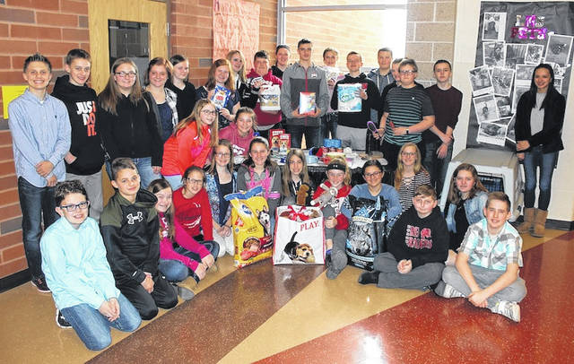 In celebration of National Pet Day Wednesday, the student council of London Middle School is collecting donations for the Humane Society of Madison County in a two-week drive. Supervised by Student Council Advisor, Tammie Dingledine, the 40-person council does not have elected officers. Instead, the group acts as one large committee, giving everyone opportunity to learn and do good works as a community. The humane society drive is chaired by 13-year-old eighth grader, Josephine Davis. Local residents are encouraged to bring shelter-approved items into the middle school office.
