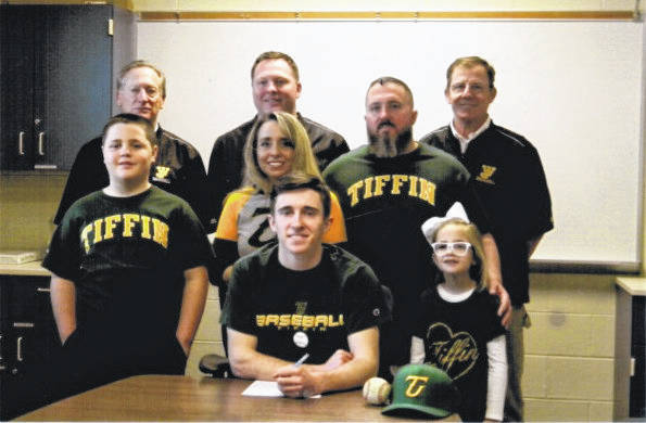 West Jefferson's Jake Boyd recently signed a letter of intent to play baseball at Tiffin University. He was joined by his family Luke, Heather, Mike and Bella, as well as by West Jefferson coaches John Mott, Jason Bogenrife and Richard Dickerson.