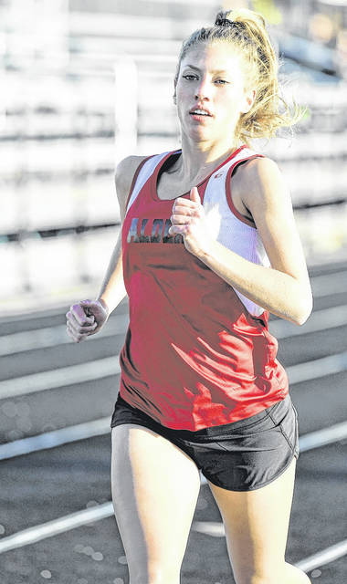 Jonathan Alder's Ashlyn McDaniel is one of the talented competitors on the Lady Pioneers track and field team.