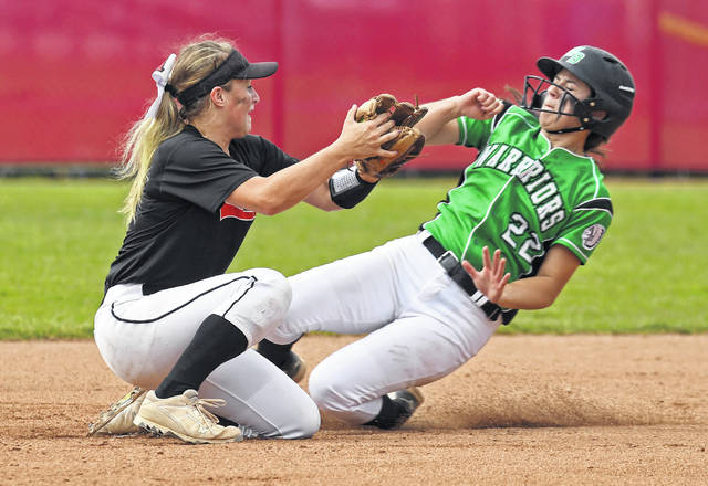 The Lady Pioneers' Emily Walker, left, was a Division II second team All-Ohio selection.